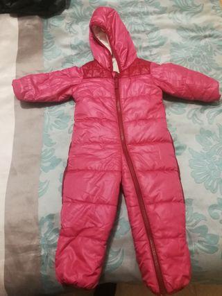 Mono ski, nieve bebé con calcetines