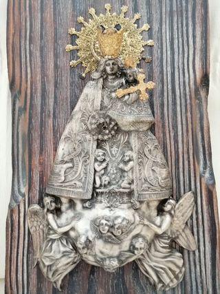 Antigua Virgen Desamparados en Alpaca