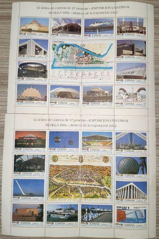 Sellos Sevilla Expo 92, sin circular