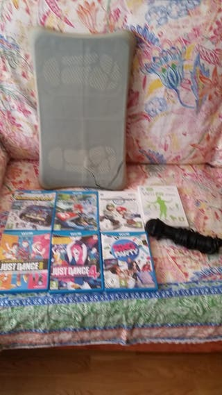 Paquete videojuegos y Balance board Nintendo