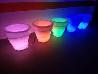 Maceteros en polietileno con luces