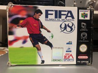 Fifa 98 rumbo al mundial nintendo 64 N64