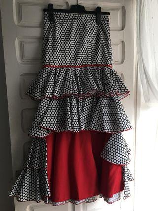 falda flamenca talla S
