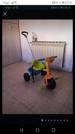 triciclo Bob esponja