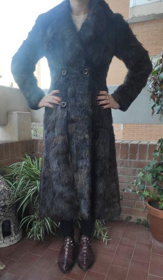 abrigo de piel de foca