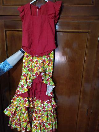 Falda y corpiño flamenca