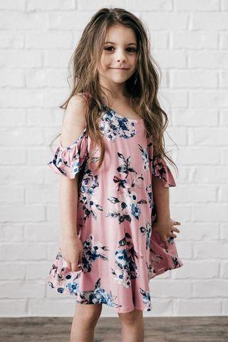 Floral Cold Shoulder Tunic Dress