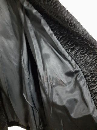 Abrigo de garras de astracan con visón