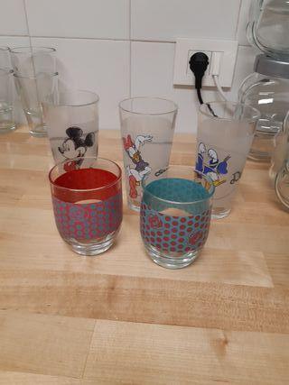 5 vasos agua infantiles