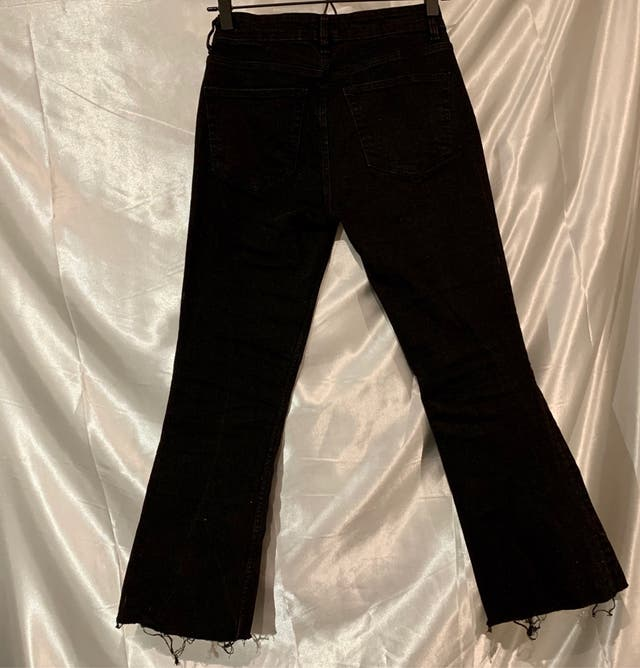 Zara cropped flare mid rise jeans