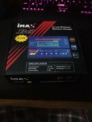 cargador de baterías IMAX b6 80w sin usar