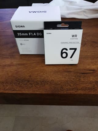 SIGMA 35mmf 1,4 serie ART + FILTRO WR