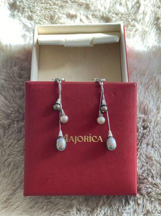Pendientes plata perlas Majorica!!Nuevos!!