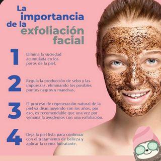 exfoliación facial ( chocolate)