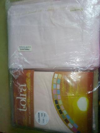 sábana 135 bordada nueva