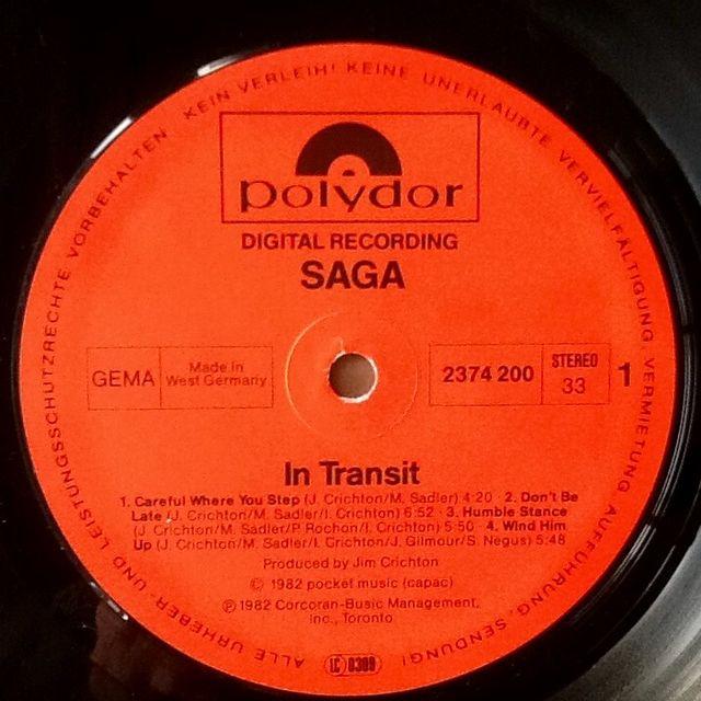 """SAGA """"IN TRANSIT"""" LP"""