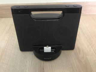 Altavoz Sony conexión con iPhone