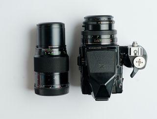 BRONICA ETRSi 4'5×6 +óptica 75mm 1:2'8 + 250mm 1:5