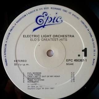 "ELECTRIC LIGHT ORCHESTRA ""ELO's GREATEST HITS"" LP"