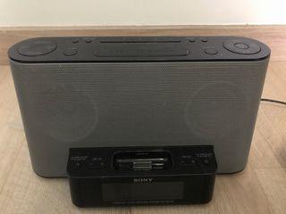 Altavoz Sony con conexión iPhone y iPod