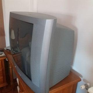 Televisor Philips y decodificador TDT