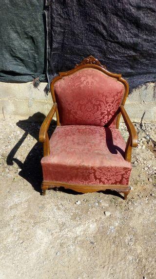 sillón antiguos de madera