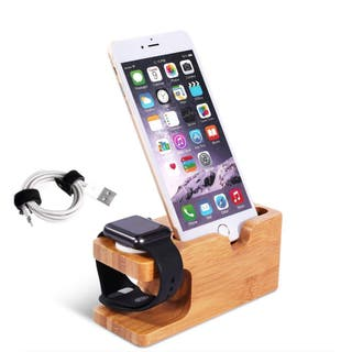 Elegante Base de carga en bambu: iPhone