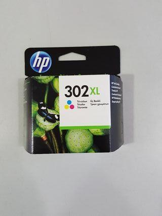 Cartucho HP de tinta color 302 XL