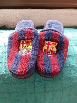 zapatillas del Barsa n35