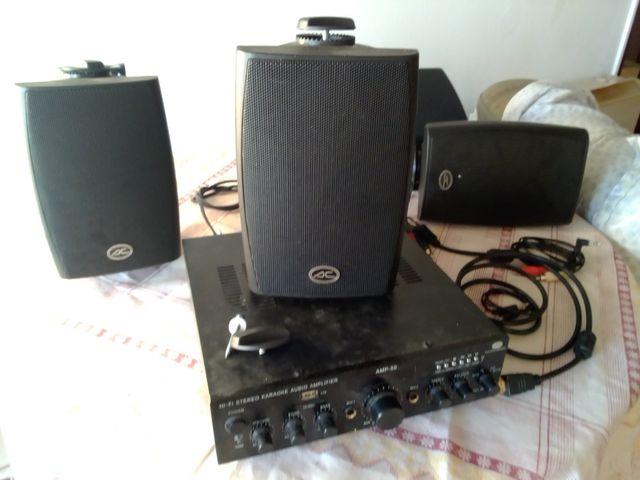 hi-fi westerestéreo karaoke audio amplificador