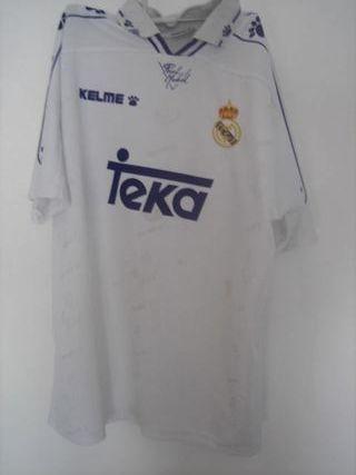 camiseta Real Madrid blanca Teka Kelme años 90 1ª