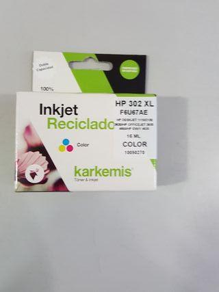 Cartucho color karkemis para HP 302XL