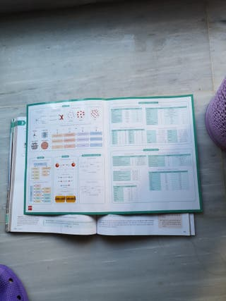 libro física y química + tabla periódica