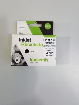 Cartucho de tinta negro karkemis HP302XL