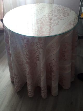 conjunto mesa y silla de noche