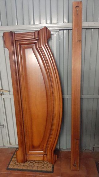 Piecero de cama de madera de cerezo