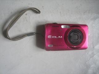 Cámara de fotos digital rosa Casio Exilim EX-Z90