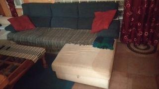 Por traslado, sofá con cama y chaise longe