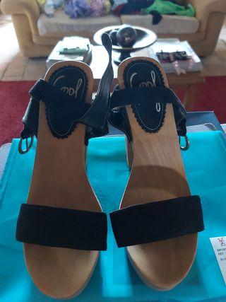 sandalias negras 38