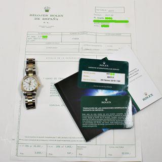Rolex Datejust 6827 Mixto 31mm Papeles Revision