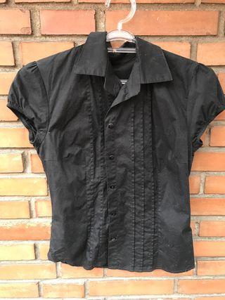 Camisa negra algodón