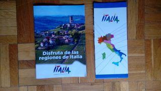 Mapa y guía de Italia.
