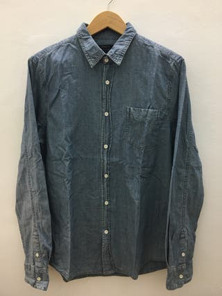Camisa azul Pull&Bear
