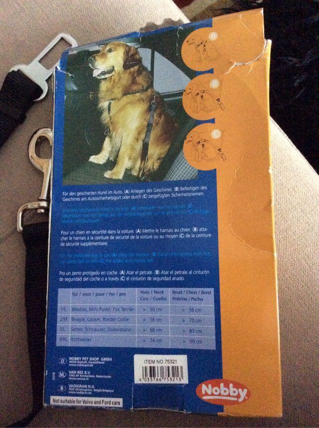 Cinturón de seguridad para perros tamaño S