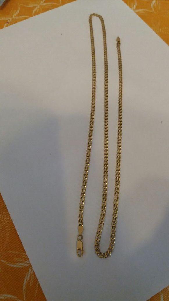 Cadena maciza de oro 18k