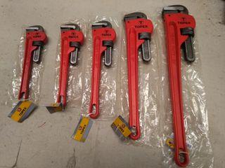 5 llaves grifas o stillson