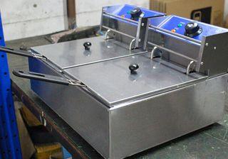 freidora 2 cestas industrial nueva