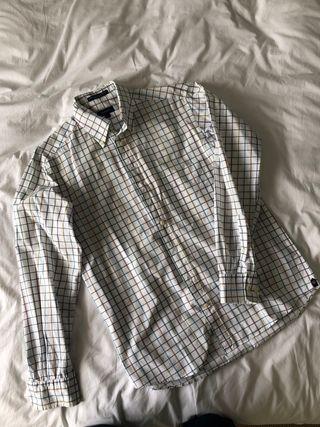 Camisa GANT blanca a cuadros talla S