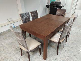 mesa de comedor 1'60 x 95 extensible