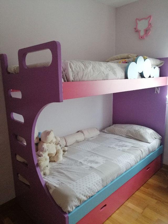 Litera con cama supletoria